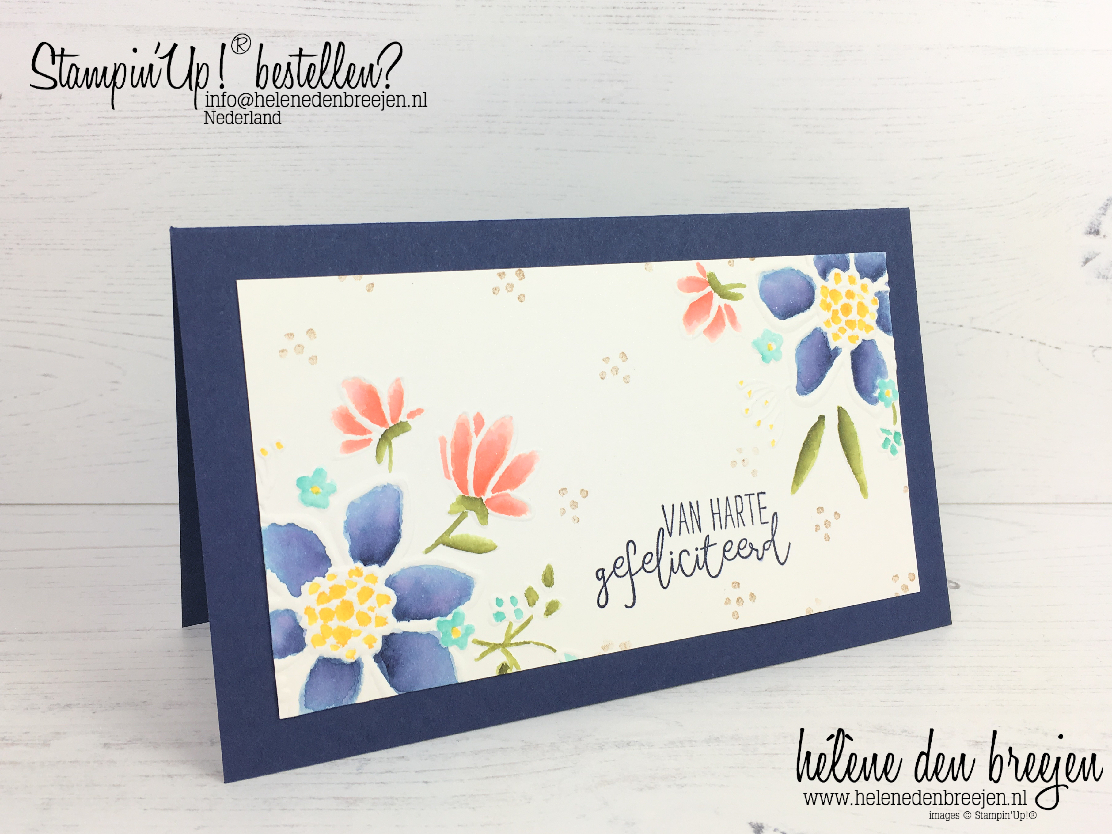 11113c8016332b Stampin'Up! Lovely floral embossing folder - watercoloring