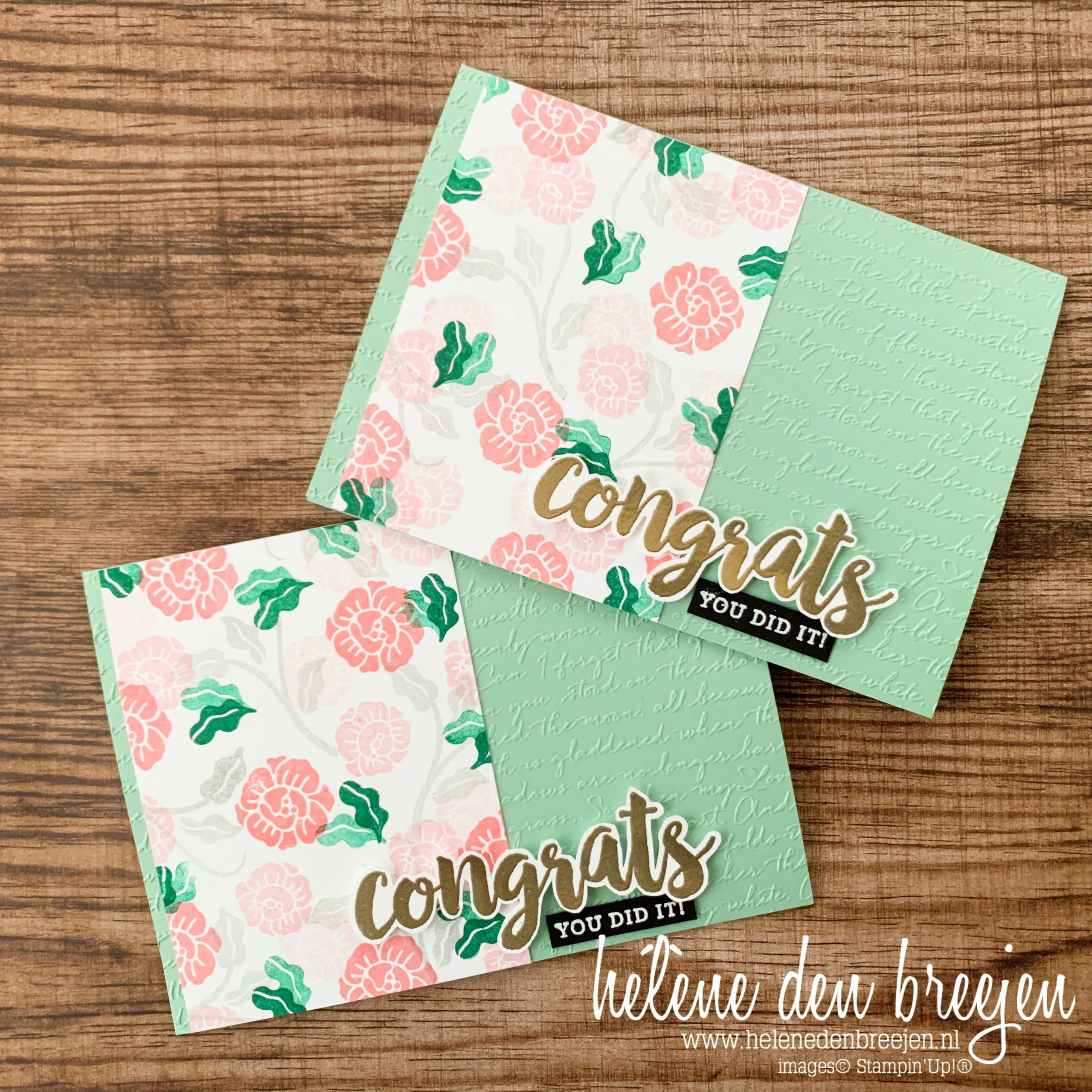 Stampin'Up! Heart to Heart, Seriously the Best, Congrats, congratulations, flowers